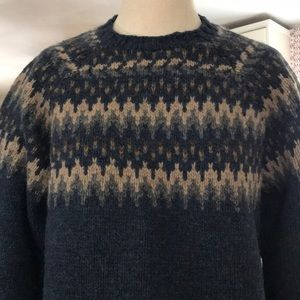 J. Crew Hand Knit Nordic Wool Sweater Size S